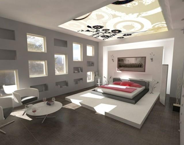 dormitorios únicos vidrio lampara moderno