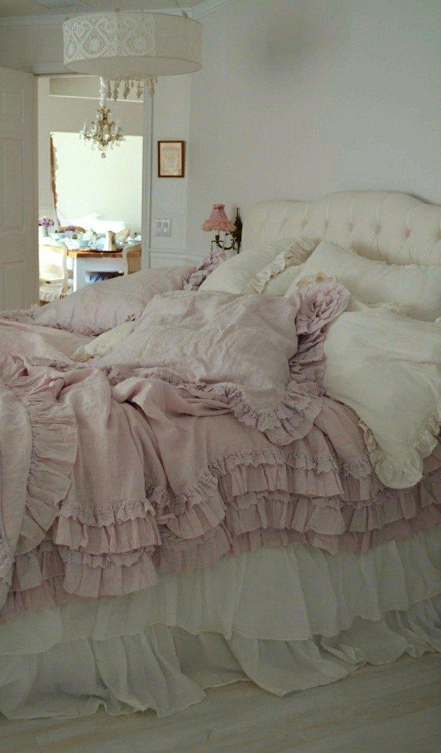 dosrmitorios bonito abundante ropa cama rosa blanco moderno