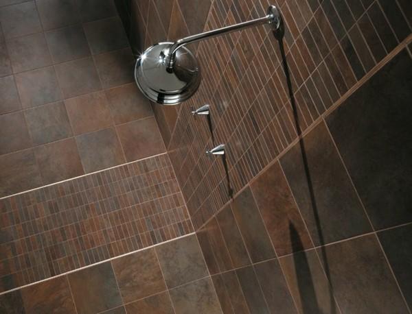 ducha losetas baldosas marrones pequeñas