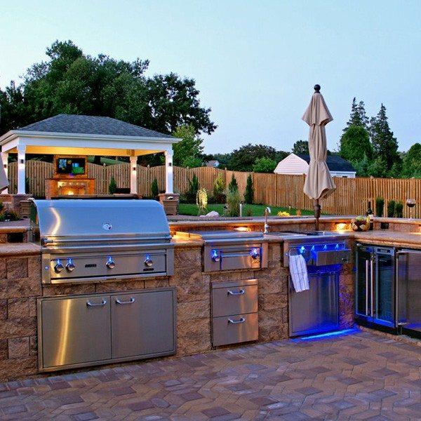 entretenimiento cocina exterior jardin diseño