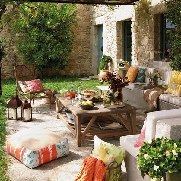 entretenimiento cojines jardin mobiliario plantas