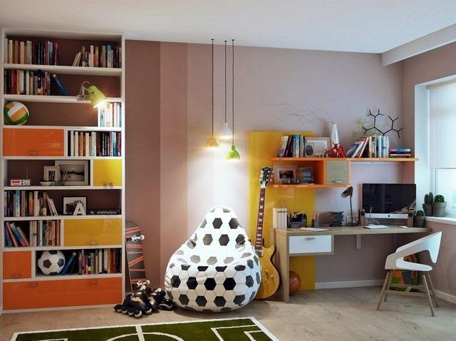 estanterias habitacion chico joven bonita moderna