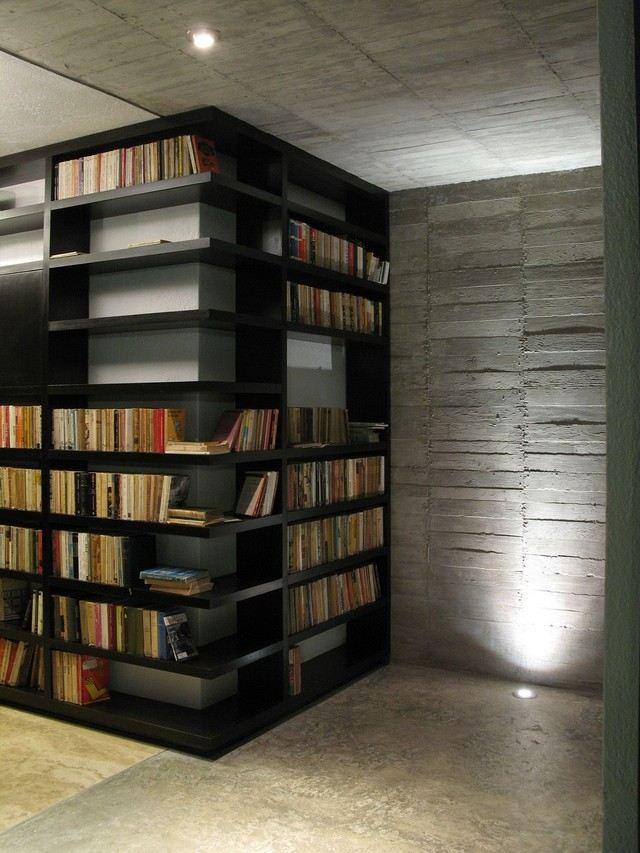 View in gallery estanterias pared diseño moderno simple esquina Estanterias  para libros  ideas originales ... e29dc35c7519