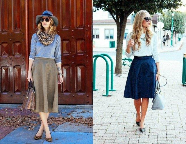 estilo casual falda color neutro dos ideas