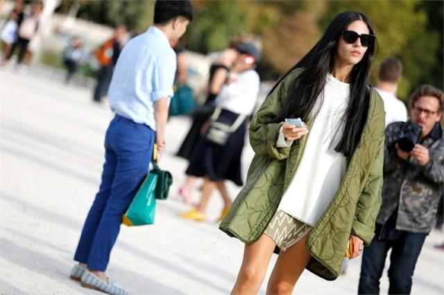 estilo casual verde jersey blanco idea chaqueta interesante