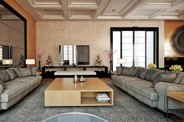 Sal n moderno tendencias originales para 2015 - Decoracion salon grande ...