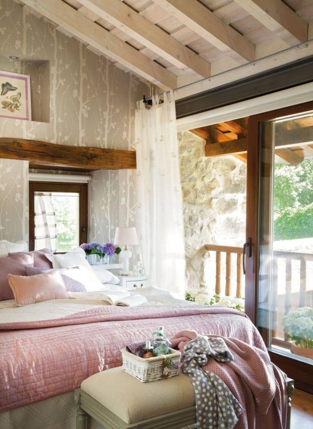 estilo romantico precioso dormitorio luminoso estrecho
