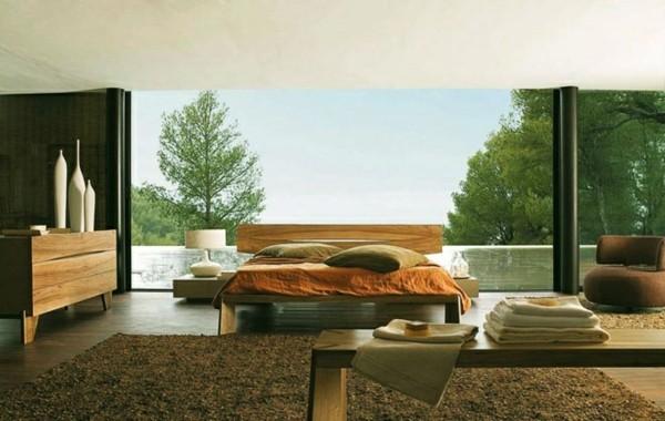 estupenda habitación moderna vistas bosque