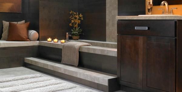 estupendo baño madera decoración
