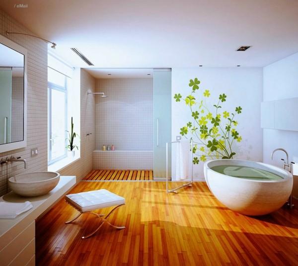 estupendo baño suelo parquet laminado