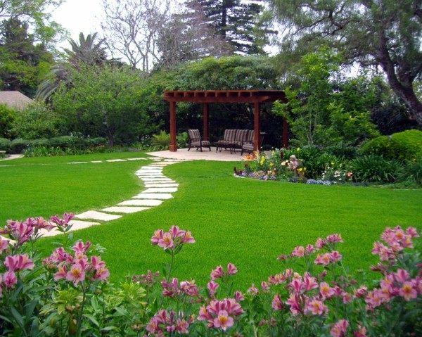Paisajes naturales en el jard n del itese con las vistas - Paisajes de jardines ...