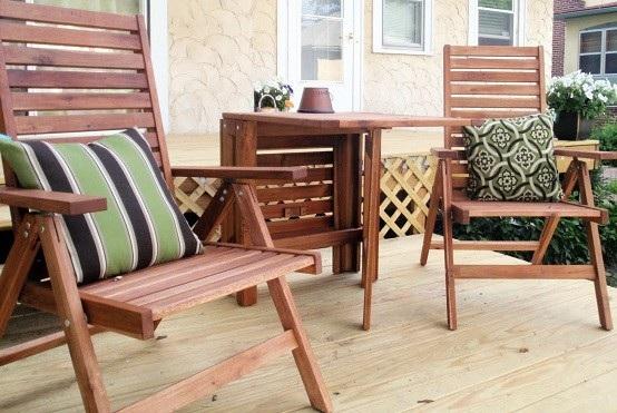 Muebles de terraza tu propio oasis en casa for Sillas plegables diseno