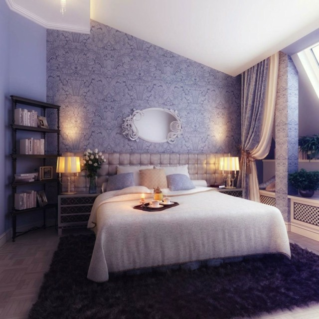 fantastico purpura dormitorio romantico bonito idea
