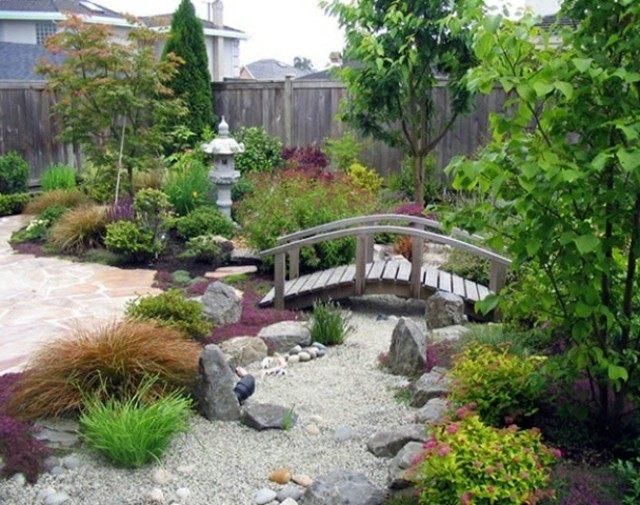 filosofia zen vegetacion grava puente meditacion