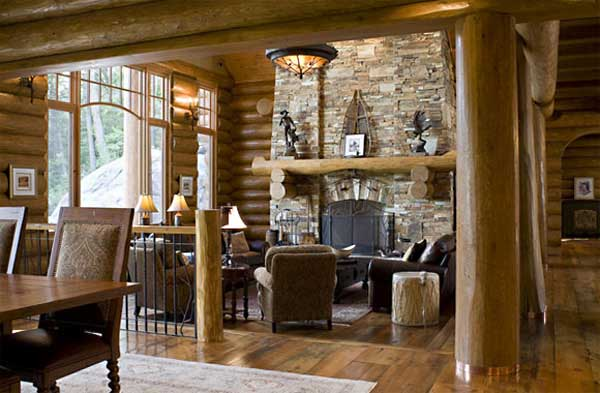fincas rusticas marron madera piedra ventanal