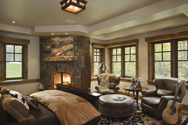 fincas rusticas muebles lujo cuero marron