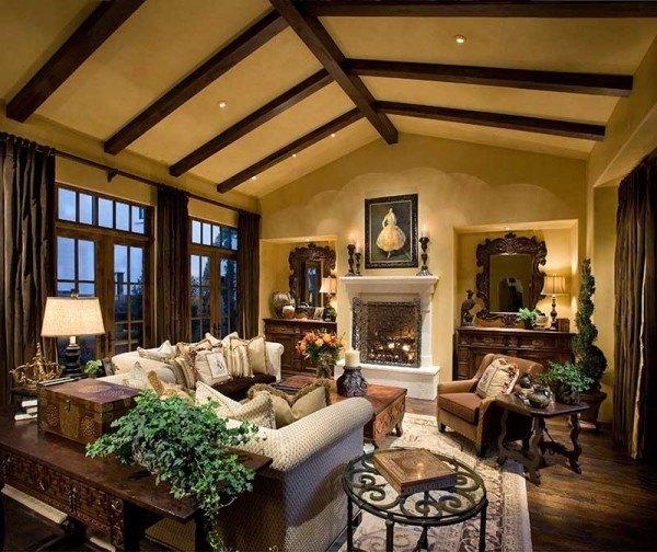 fincas rusticas salon ventanales chimenea amplio