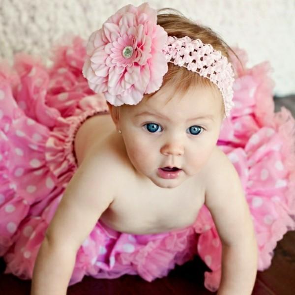 flor grande diadema crochet rosa