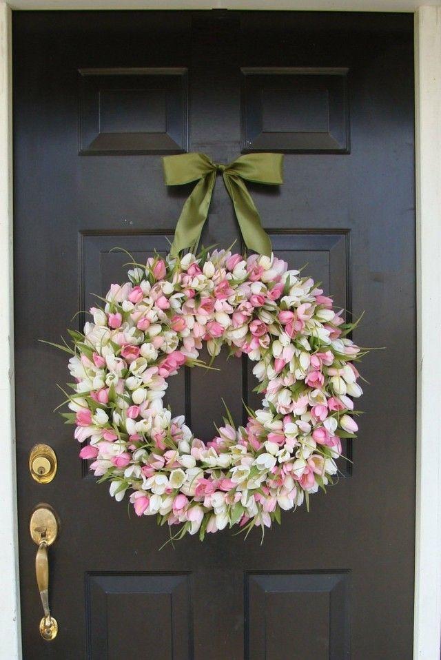 flores decorativas puerta delantera moderno casa