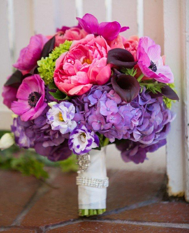 flores ramo centro mesa colorido