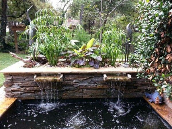 fuente doble pantano flamenco plantas