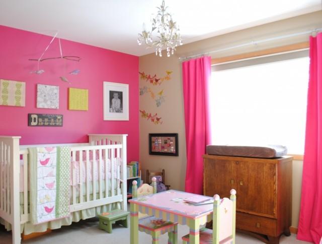 rosa para la habitacin de vuestro bebe futuro juguetes nia pared cortinas bonito rosa