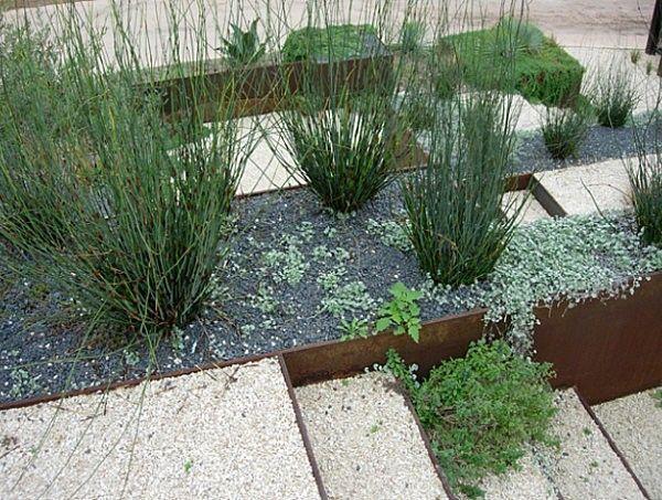 grava plantas xeriscape diseño paisajismo