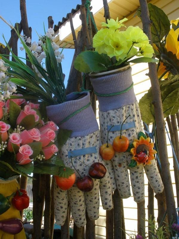 guantes flores decoracion jardineria manualidades
