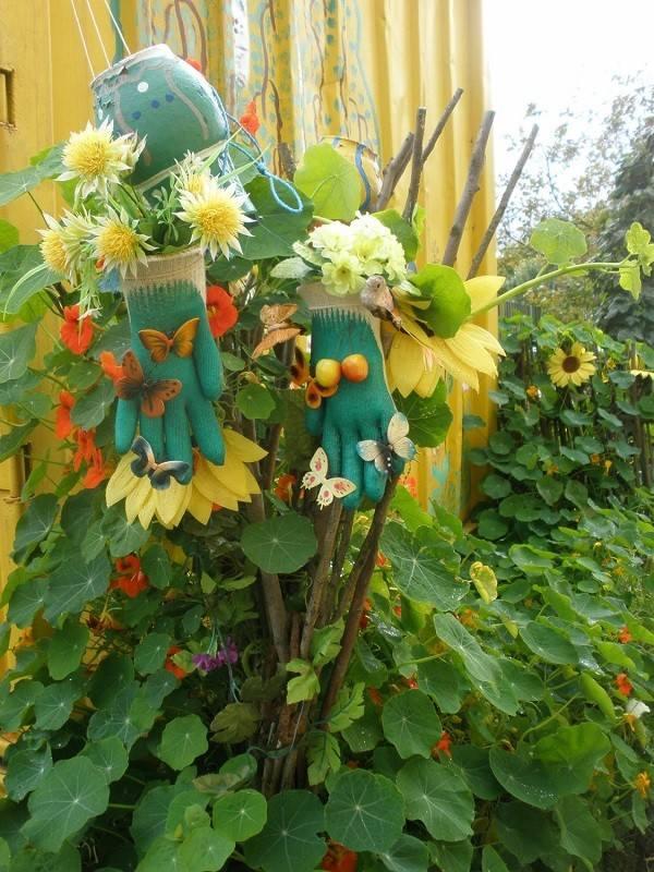 guantes plantas flores decoracion manualidades diseño
