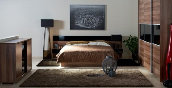 habitación bonita madera alfombra beige