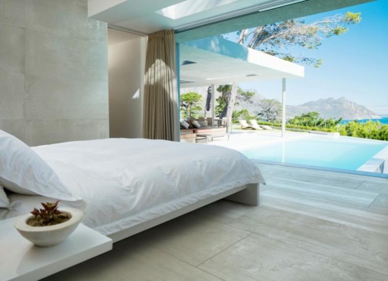 habitación decoración moderna vistas playa