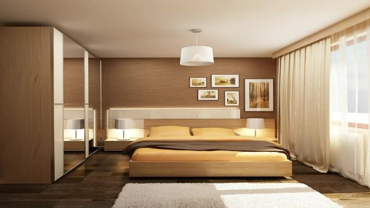 habitación dormitorio amarillo recto luz