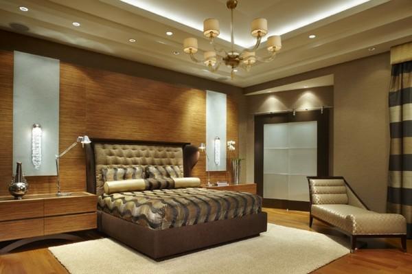 habitación lujosa madera marrón beige