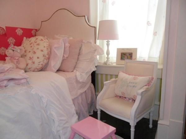 habitación niña color rosa