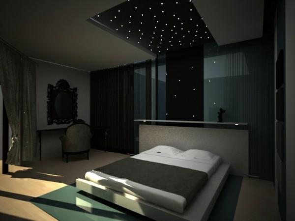 habitación techo estrellas luces pequeñas