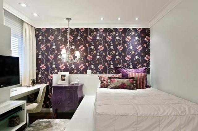 habitaciones juveniles chica blanco lila combinacion