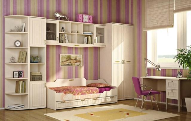 Habitaciones juveniles para chicas adolescentes for Comodas modernas para dormitorio