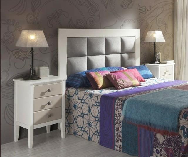 habitación diseño cojines madera lámparas