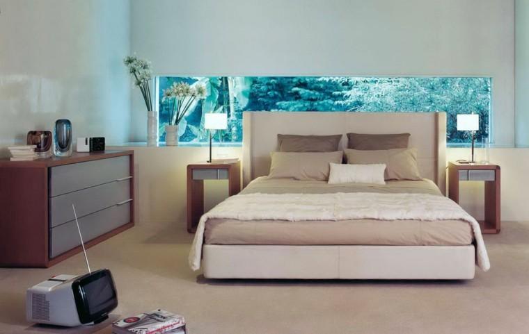 habitacion diseño moderno ventana horizontal
