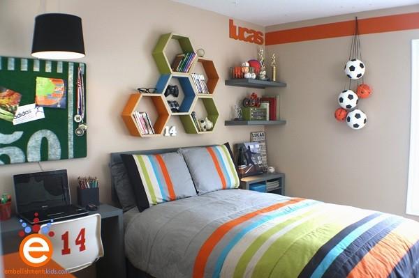 habitacion para chicos en varios colores