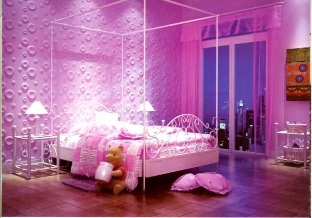 Habitaciones infantiles un mundo de color rosa - Color habitacion infantil ...