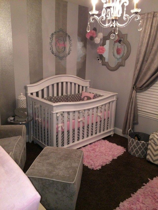 habitaciones de bebe cuna blanca oscura bonita pequeña