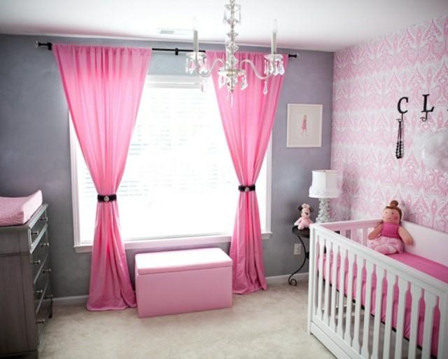 habitaciones de bebe cunas blancas gris bonita claro