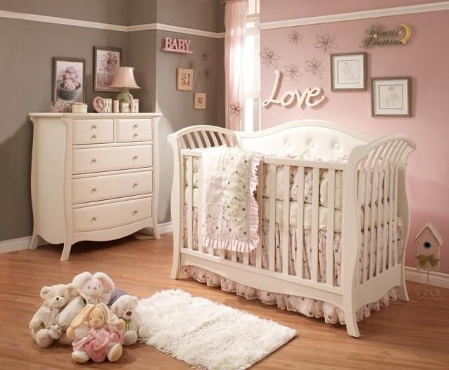 Habitaciones de bebe 26 ideas que te conquistaran for Decoracion habitacion nina gris y rosa