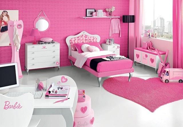 habitaciones infantiles rosa fucsia barbie