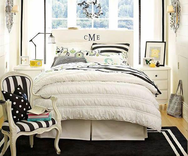 habitaciones juveniles moderna de diseño en blanco