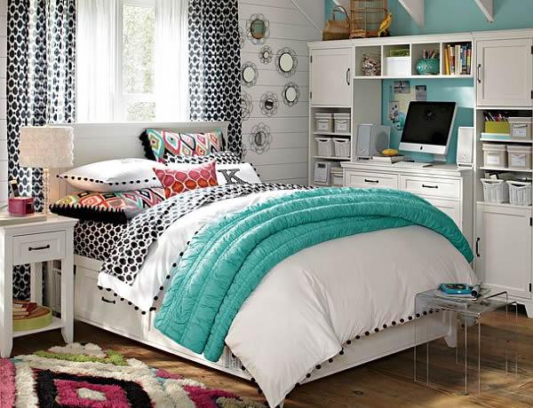 habitaciones juveniles muebles  blanco