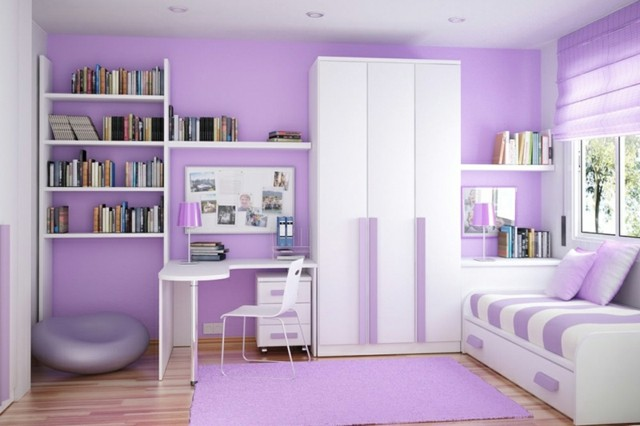 Habitaciones juveniles para chicas adolescentes for Habitaciones juveniles pintadas