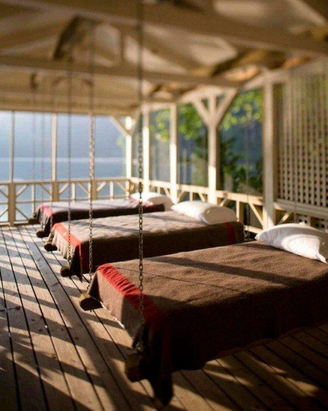 hamacas colgantes varias camas madera