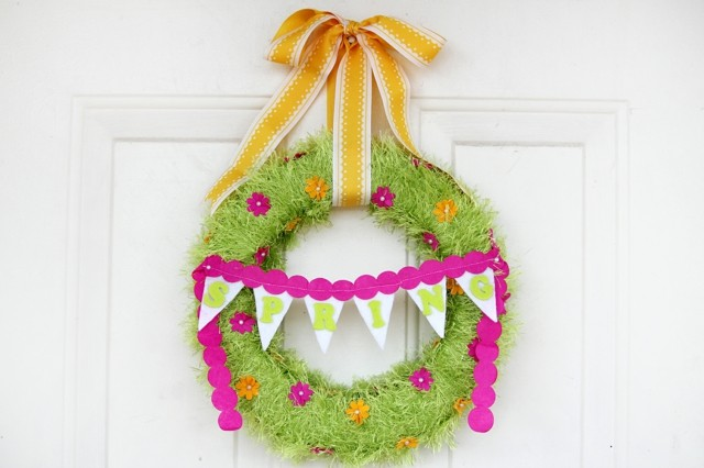 hecha mano guirnalda bonita primavera verde